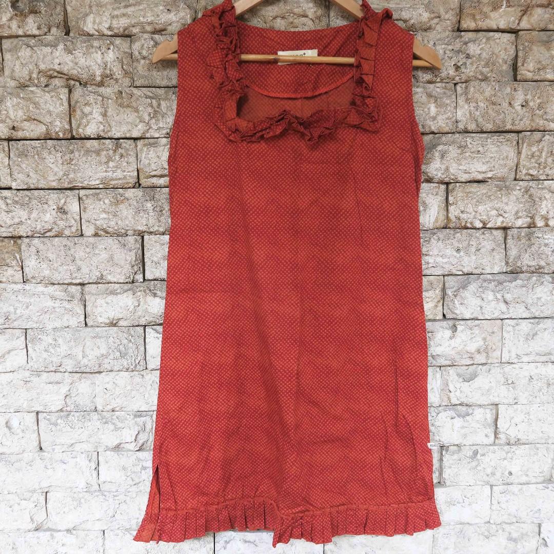 COD Preloved Red Orange Dress