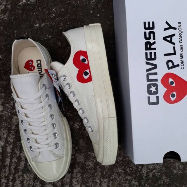 c30e0eaf4469 CONVERSE 70S LOW OFF WHITE OFF WHITE PLAY CDG COMME DES GARCONS ...