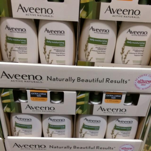 Costco身體保養商品。Aveeno艾惟諾 天然活萃燕麥精華乳液591毫升*2入