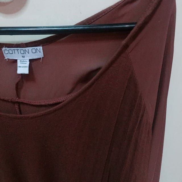COTTON ON Long Sleeves Brown
