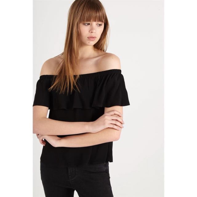 596f951ac00cac Cotton On Noah Frill Off The Shoulder Top, Women's Fashion, Clothes ...