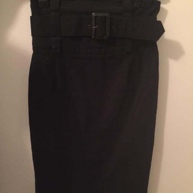 Cue Sz 10 High Waisted Pencil Skirt