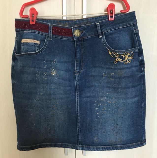 fe7281aae Desigual Denim Skirt size 44, Women's Fashion, Clothes, Pants, Jeans ...