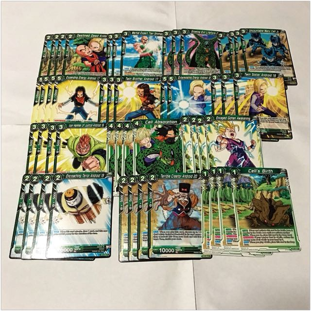 Dragon Ball Super Card Game Cell Deck List Card