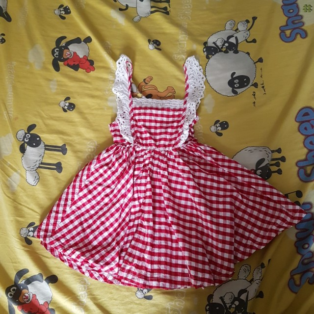 Dress kotak tartan red