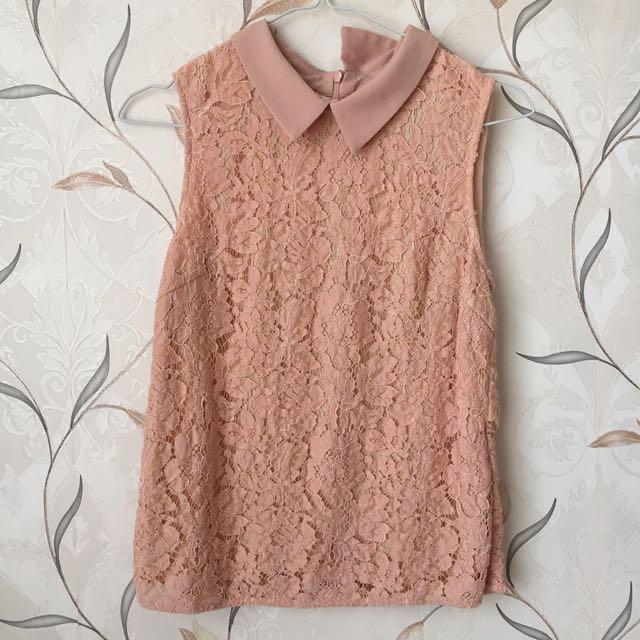 Dusty pink sleeveless top