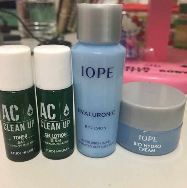 Etude house, iope 化妝水、乳液、凝凍