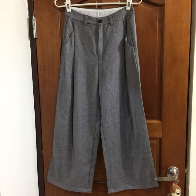 EYESCREAM灰色寬褲