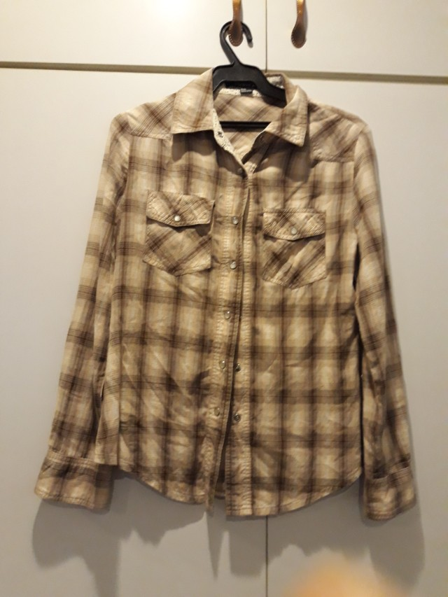F21 plaid top