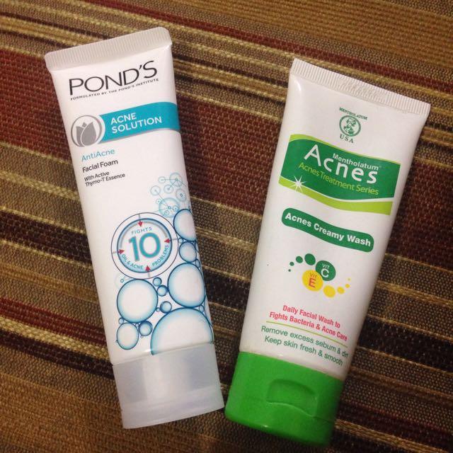 Facial wash acnes & ponds acne solution
