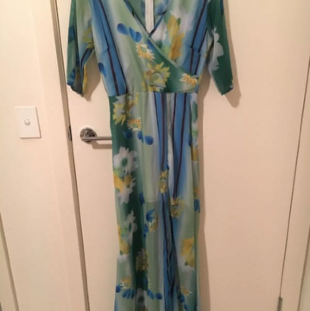 Floral Maxi Gown size 8