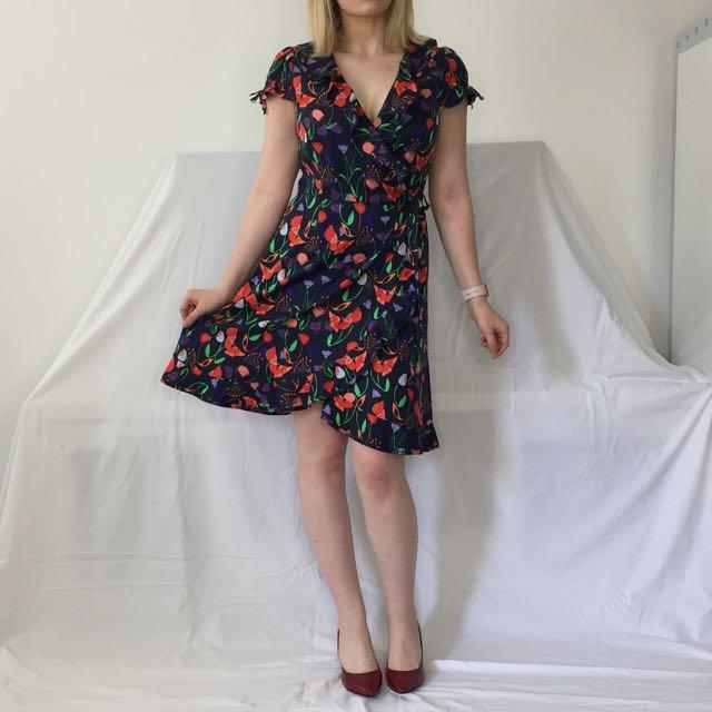 Floral Wrap Dress - Hi by Karen Walker