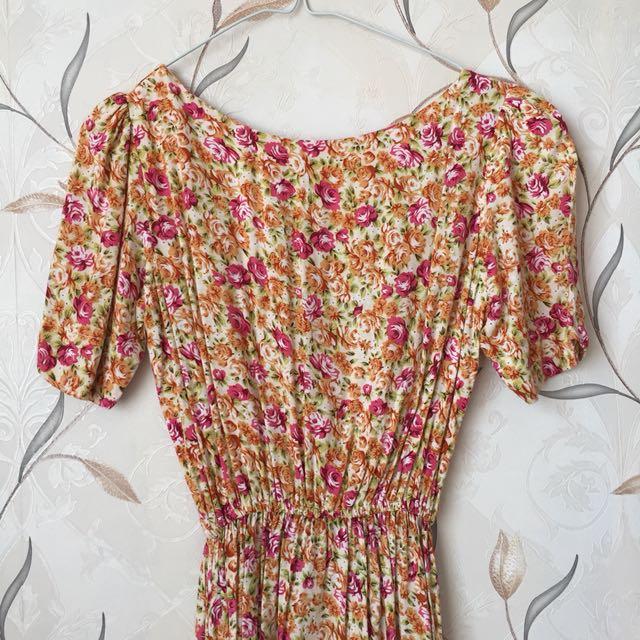 Flowery Free Size Dress