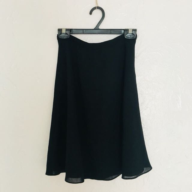 Flowy A-line Office Skirt