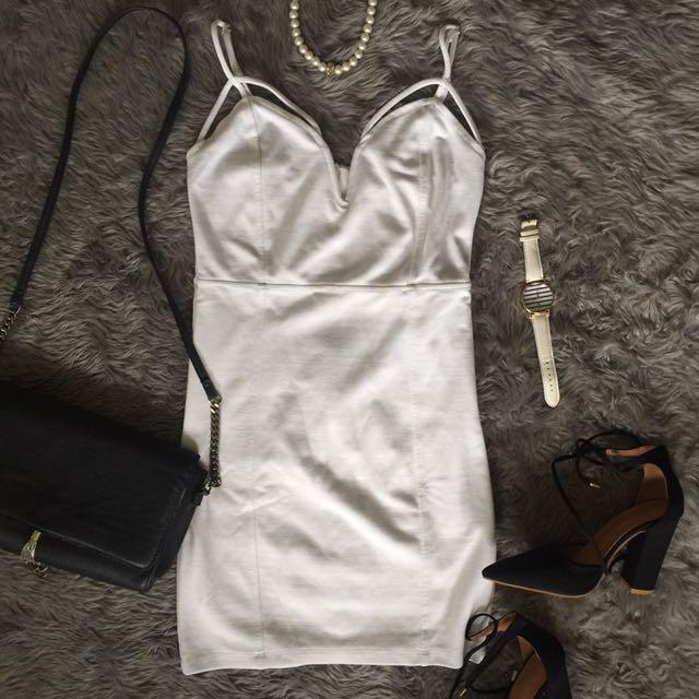 Forever21 White Strap Dress