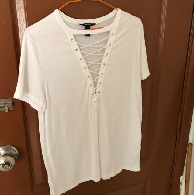 Forever 21 cotton white top