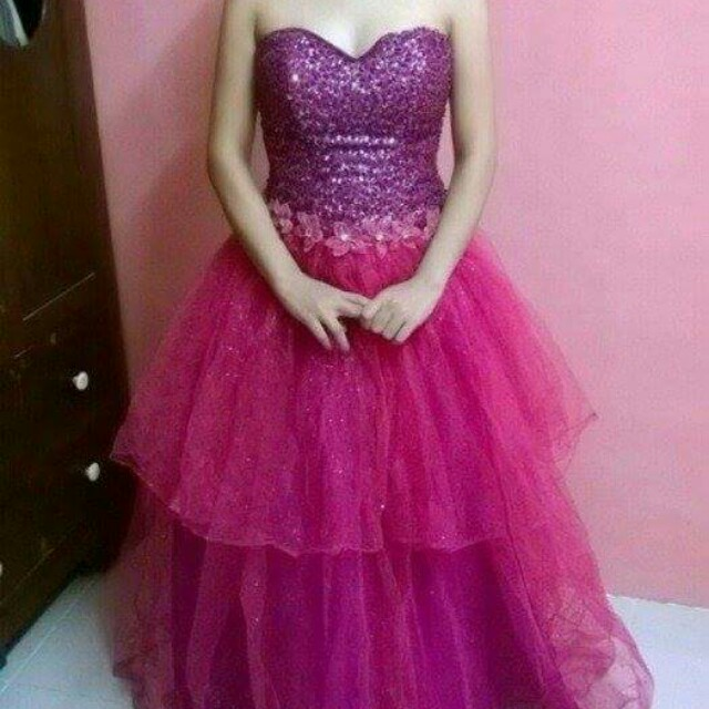 Fuschia Pink gown for sale, Preloved Women\'s Fashion, Clothes on ...