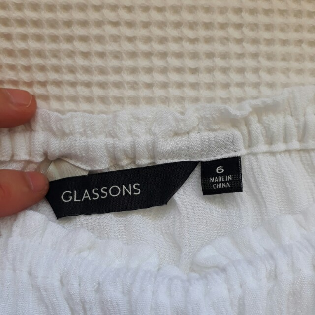 Glassons White off the shoulder Top