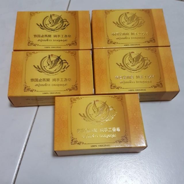Golden swallow handmade bird nest soap