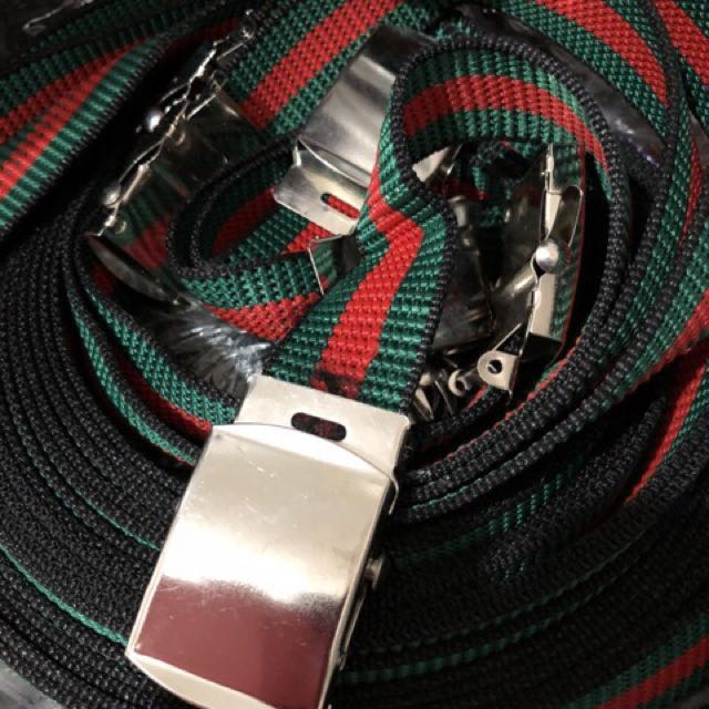 Gucci Inspired Stripe Belt for Ladies