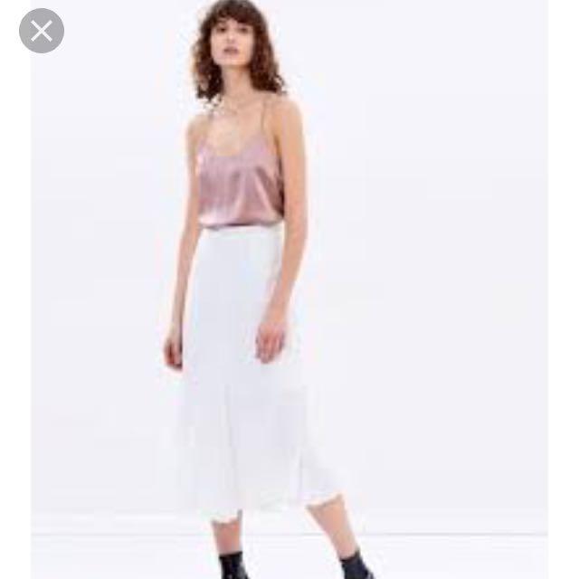 Hansen and Gretel white midi skirt