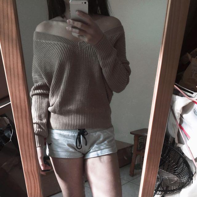 H&M 奶茶親膚毛衣 Xs