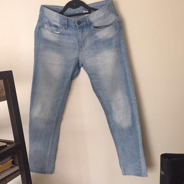 H&M Boyfriend bleached Jeans