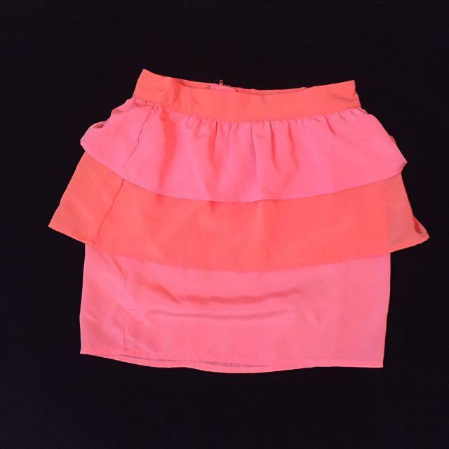 H&M orange and pink dress