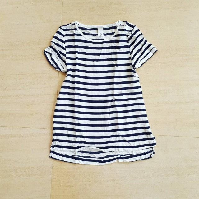 H&M Striped Loose Top