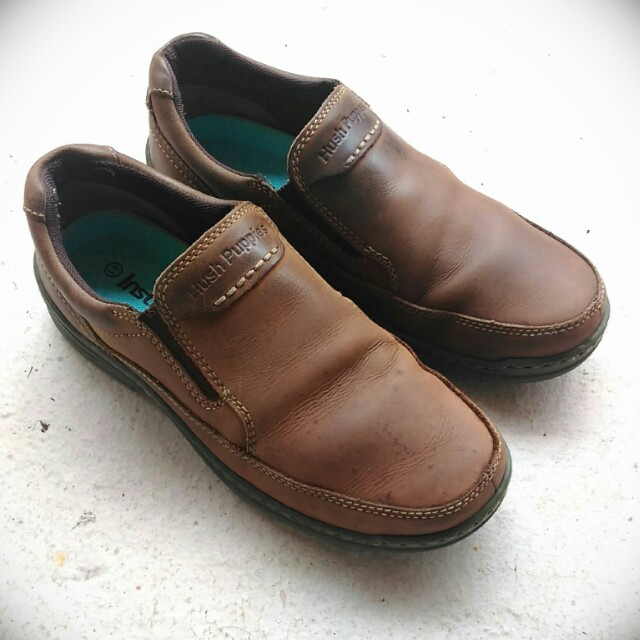 HUSH PUPPIES Suede Leather Shoes, US 7/EU 40/CM 25.5
