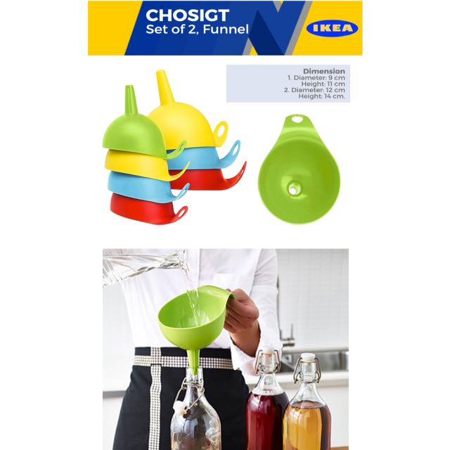IKEA CHOSIGT FUNNEL SET OF 2 FUNNEL