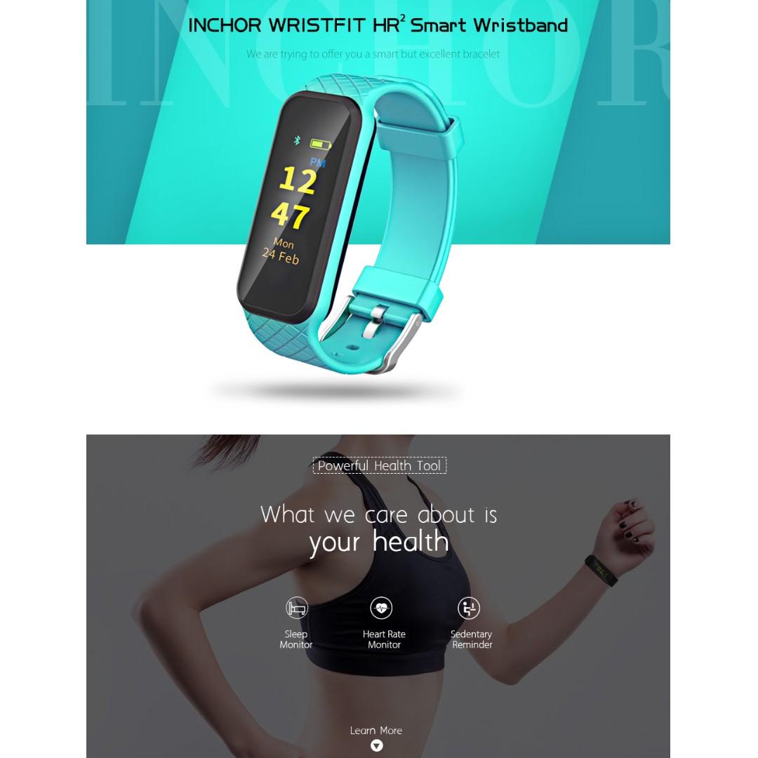 Inchor Wristfit Hr2 Colorful Tft Screen Smart Bracelet Fesyen Jam Tangan M2 Health Lelaki Di Carousell