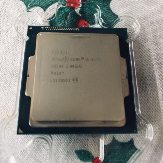 Intel gaming cpu i5 4670K rare gaming processor