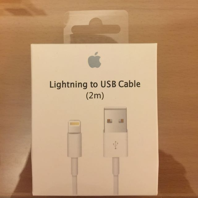 iPhone蘋果原廠2m傳輸線充電線
