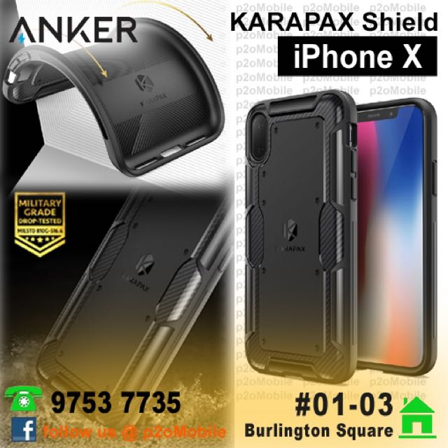 [iPhone X] Anker KARAPAX Shield Case for iPhone X
