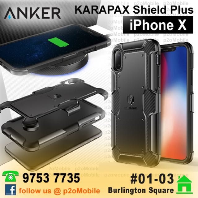 [iPhone X] Anker KARAPAX Shield Plus Case for iPhone X