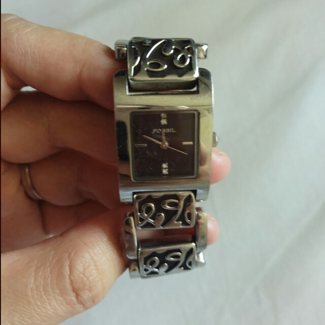 jam fossil silver