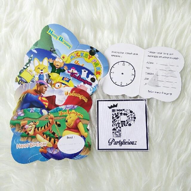 Kartu Undangan Ulang Tahun Ultah Anak Birthday Card Invitation
