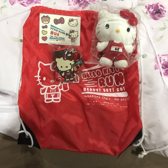 Kitty run backpack / tattoo / medal and stuff toys