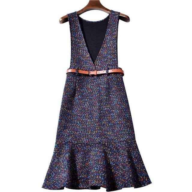 Korean style knitted Dress