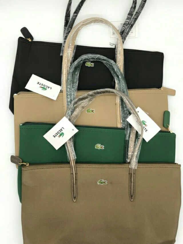 Lacoste horizontal version embroider tote bag