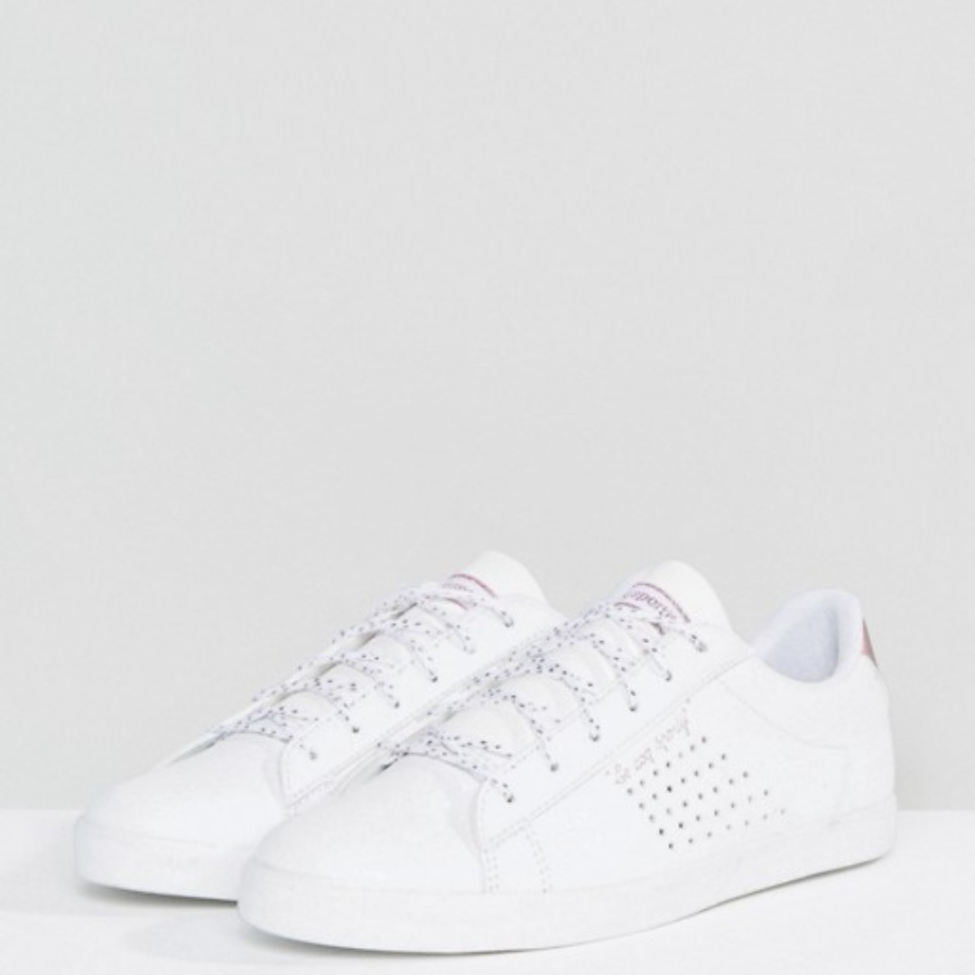 5bf000a89ef3 Le Coq Sportif Le Coq Sportif White And Rose Gold Agate Lo Sneakers ...