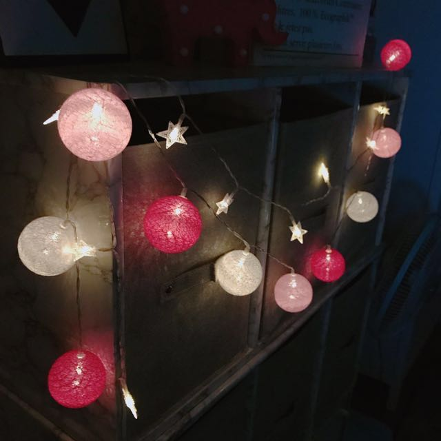 現貨🎄LED彩燈 粉色款 彩球/燈串/夜燈 雜貨 居家生活 裝飾品 交換禮物
