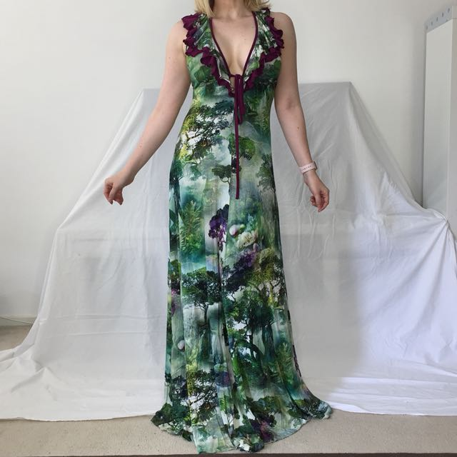 Leona Edmiston Halter Maxi Dress