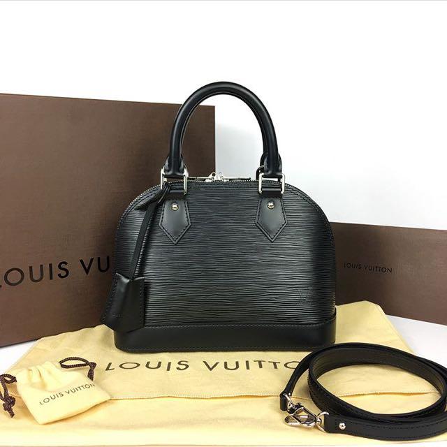 Louis Vuitton Alma BB in Epi Leather (Black & Silver Hardware)