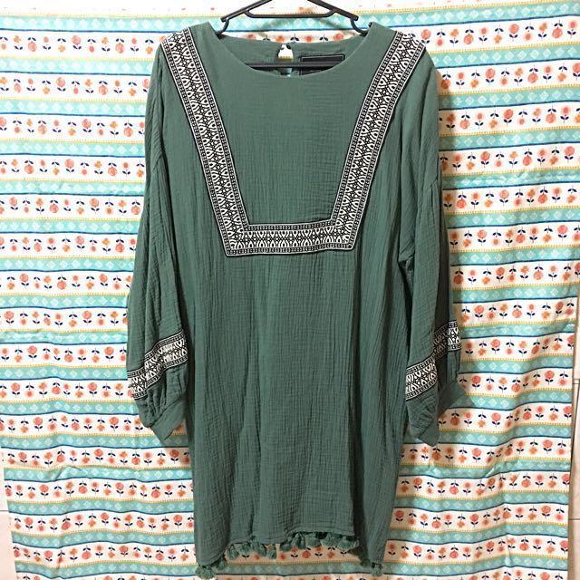 🌿Lovfee民族刺繡棉麻洋裝🌿
