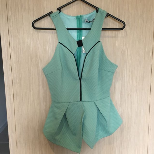 Maddison turquoise party dinner top