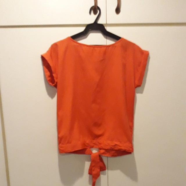 Mango Open-back blouse
