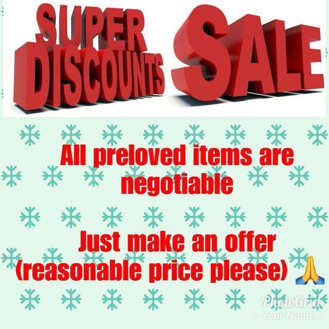 Mega Sale !!! Big Discount !!!! Clearance Sale !!!