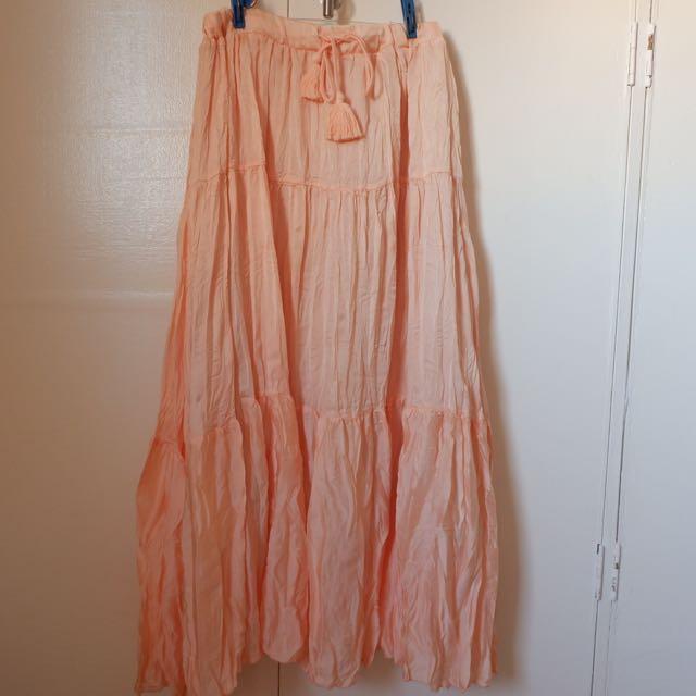 Mint Orange Skirt
